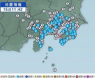 東京湾を震源とする地震